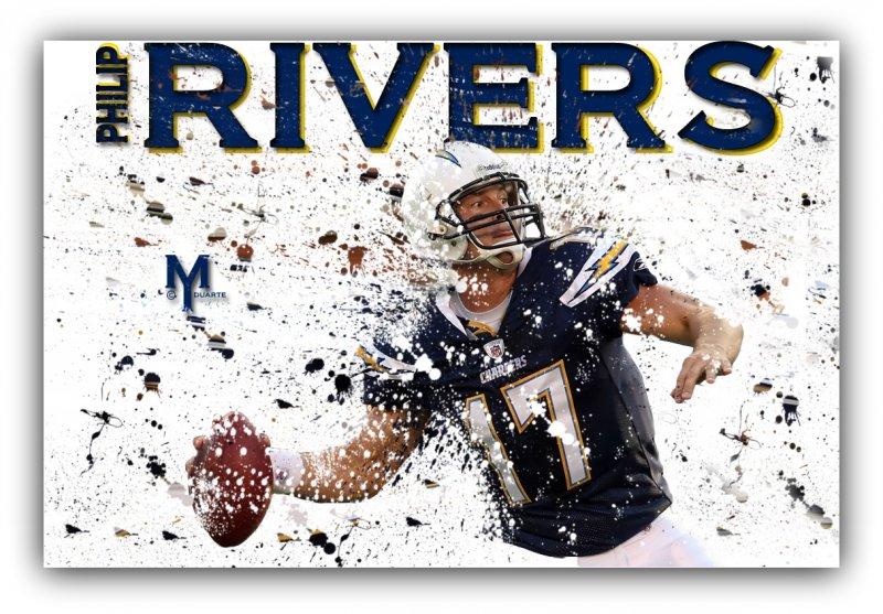 1-Philip Rivers Splatter